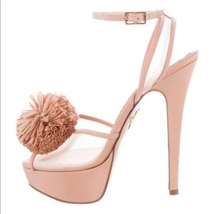Charlotte Olympia Pomeline Crepe De Chine Sandals